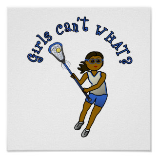 Lacrosse Player in Blue Poster
