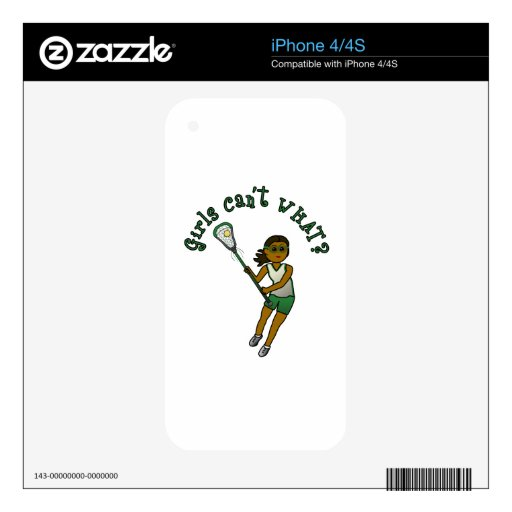 Lacrosse Player in Green iPhone 4 Decal