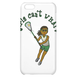 Lacrosse Player in Green Case For iPhone 5C