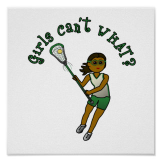 Lacrosse Player in Green Poster