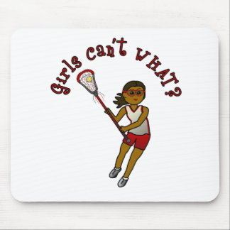 Lacrosse Player in Red Mouse Pad