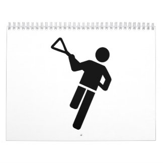 Lacrosse player logo calendar