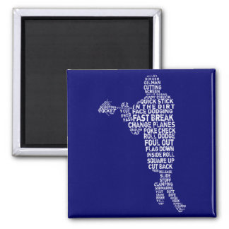 Lacrosse Player Magnet