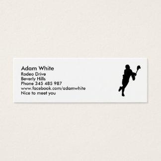 Lacrosse Player Mini Business Card