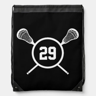 Lacrosse Player Number backpack