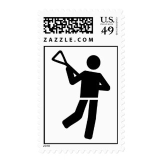 Lacrosse player postage