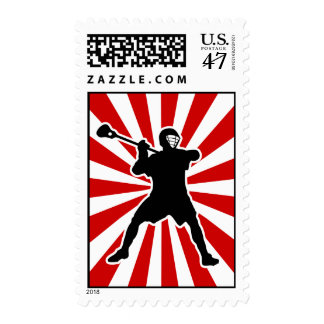 Lacrosse Player postage stamps