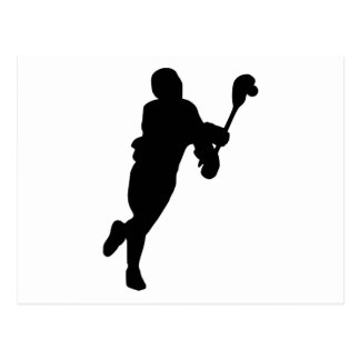 Lacrosse Player Post Card