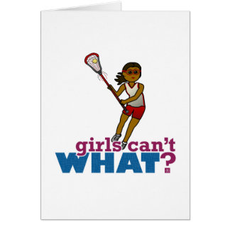 Lacrosse Player Red Uniform Card