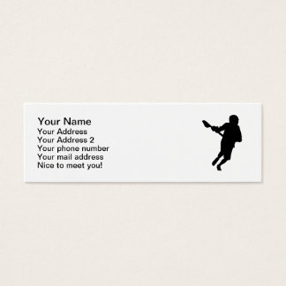 Lacrosse player sports mini business card