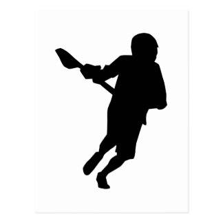 Lacrosse player sports postcard