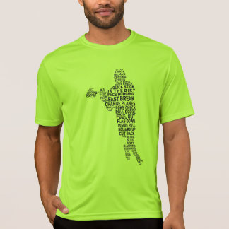 Lacrosse Player Typography Sports T-Shirt