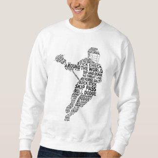 Lacrosse Player Typography Sweatshirt