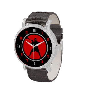 Lacrosse Player watch -red black
