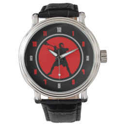Lacrosse Player watch -red / black