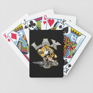 Lacrosse Player Yellow Uniform Bicycle Playing Cards