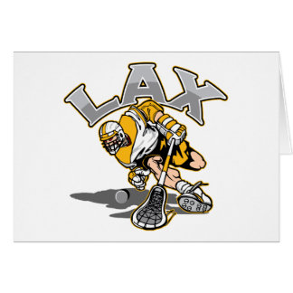 Lacrosse Player Yellow Uniform Card