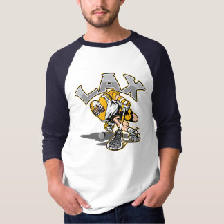 Lacrosse Player Yellow Uniform T-Shirt