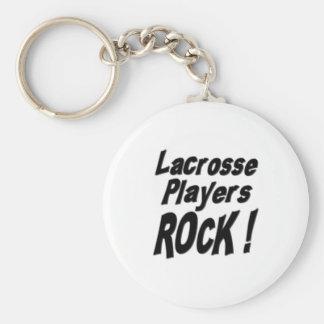 Lacrosse Players Rock! Keychain