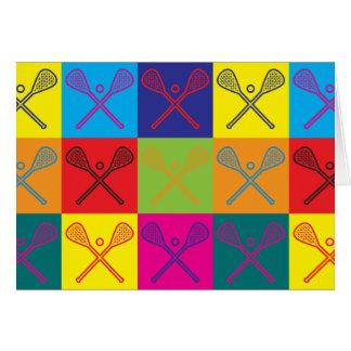 Lacrosse Pop Art Card