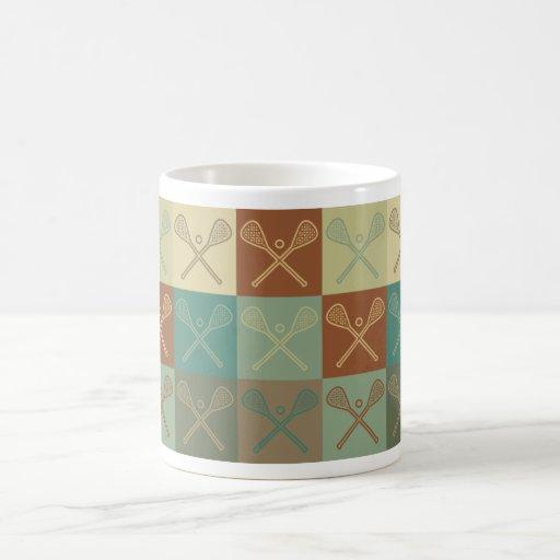 Lacrosse Pop Art Classic White Coffee Mug