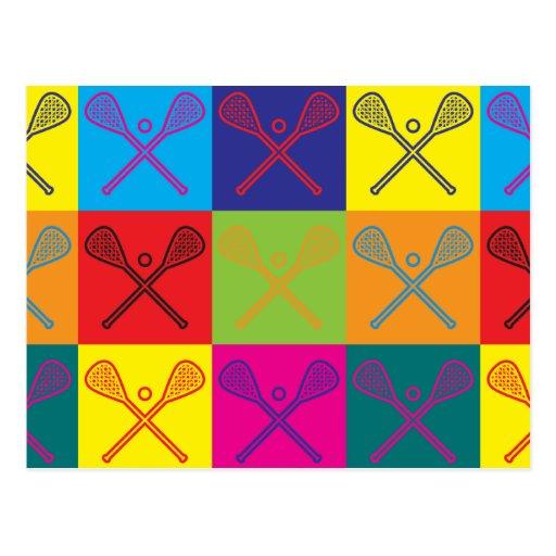 Lacrosse Pop Art Postcard