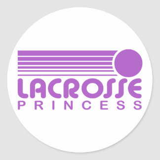 Lacrosse Princess Classic Round Sticker