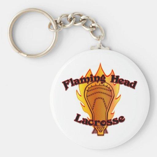 LaCrosse principal llameante Llaveros Personalizados