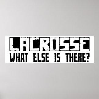 ¿LaCrosse qué más está allí? Póster