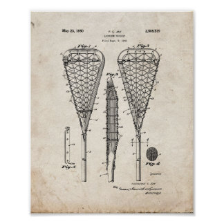 Lacrosse Racquet Patent - Old Look Poster