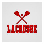 Lacrosse Red Poster