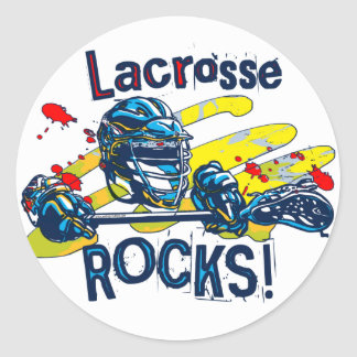 Lacrosse Rocks  LaX Gear Classic Round Sticker