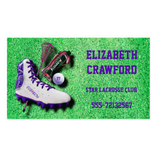 Lacrosse Shoe Stick Eye Mask Ball With Your Name Business Card