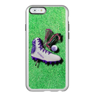 Lacrosse Shoe Stick Eye Mask Ball With Your Name Incipio Feather Shine iPhone 6 Case
