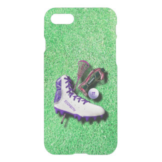 Lacrosse Shoe Stick Eye Mask Ball With Your Name iPhone 8/7 Case