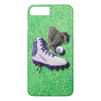 Lacrosse Shoe Stick Eye Mask Ball With Your Name iPhone 8 Plus/7 Plus Case