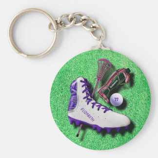 Lacrosse Shoe Stick Eye Mask Ball With Your Name Keychain