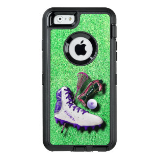 Lacrosse Shoe Stick Eye Mask Ball With Your Name OtterBox Defender iPhone Case