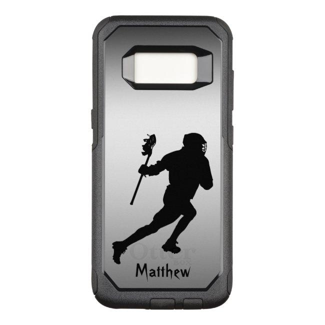 Lacrosse Silver Black Sports Galaxy S8 Case