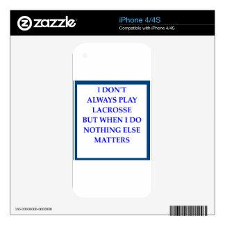 LACROSSE SKINS PARA eliPhone 4S