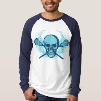 Lacrosse Skull - Blue T-Shirt