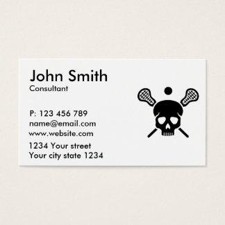 Lacrosse skull business card