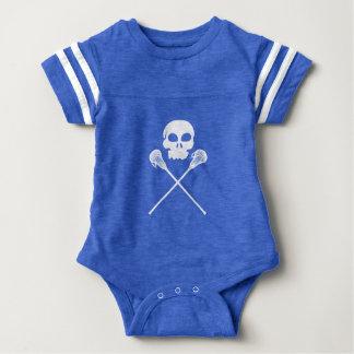 Lacrosse Skull Crossed Sticks Baby Bodysuit