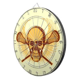 Lacrosse Skull dart board - Red