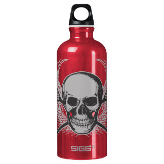 Lacrosse Skull - Gray beverage container Water Bottle
