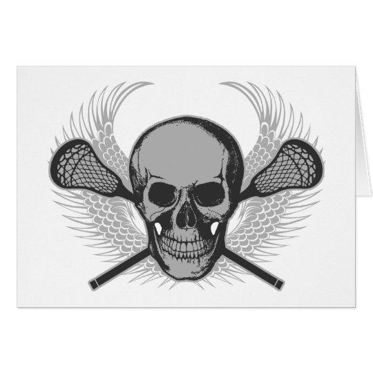 Lacrosse Skull - Gray Card