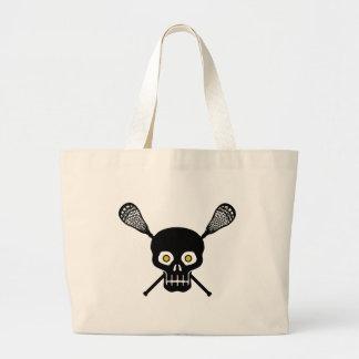 Lacrosse Skull Large Tote Bag