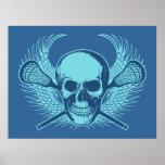 Lacrosse Skull poster