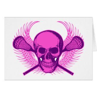 Lacrosse Skull - Purple Card