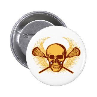 Lacrosse Skull - Red Pin